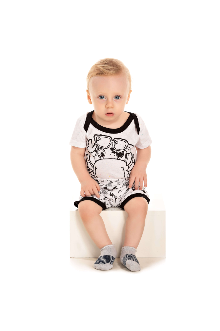 212/A - Pijama Bebê Masculino Siri