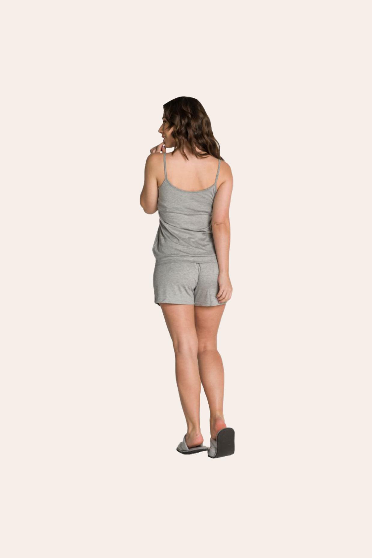 110/A - Pijama Adulto Feminino Canelado com Botões Decorativos