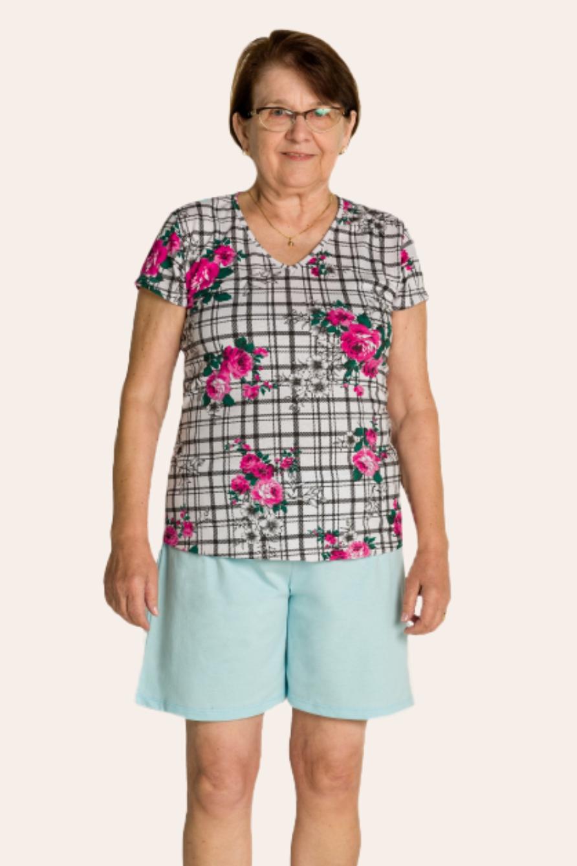 132/E - Pijama Adulto Feminino Floral