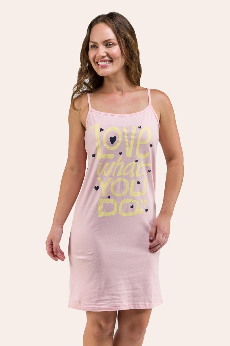 132/H - Camisola Feminina Adulta Love Plus Size