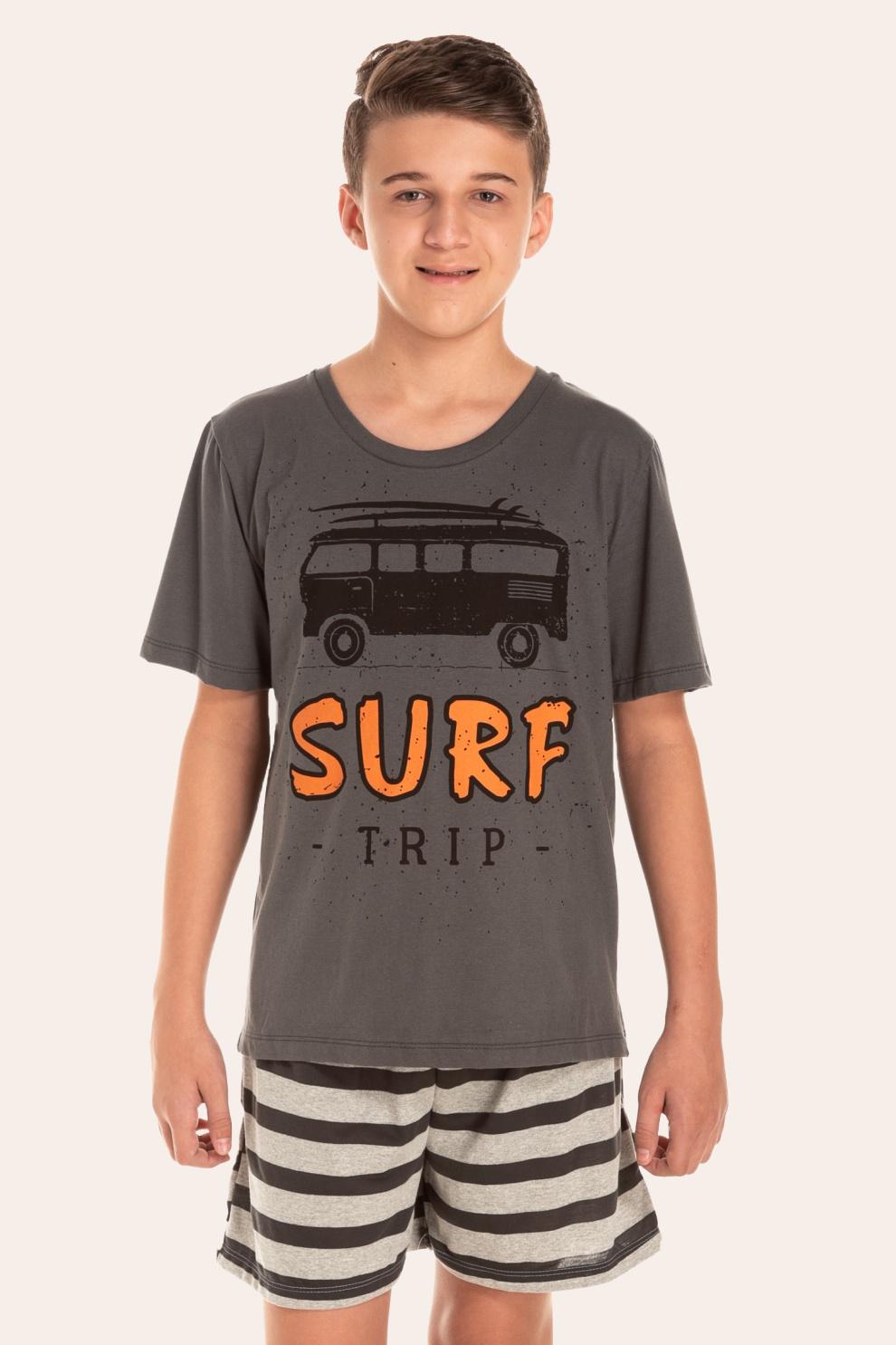 138/D - Pijama Juvenil Masculino Surf Trip