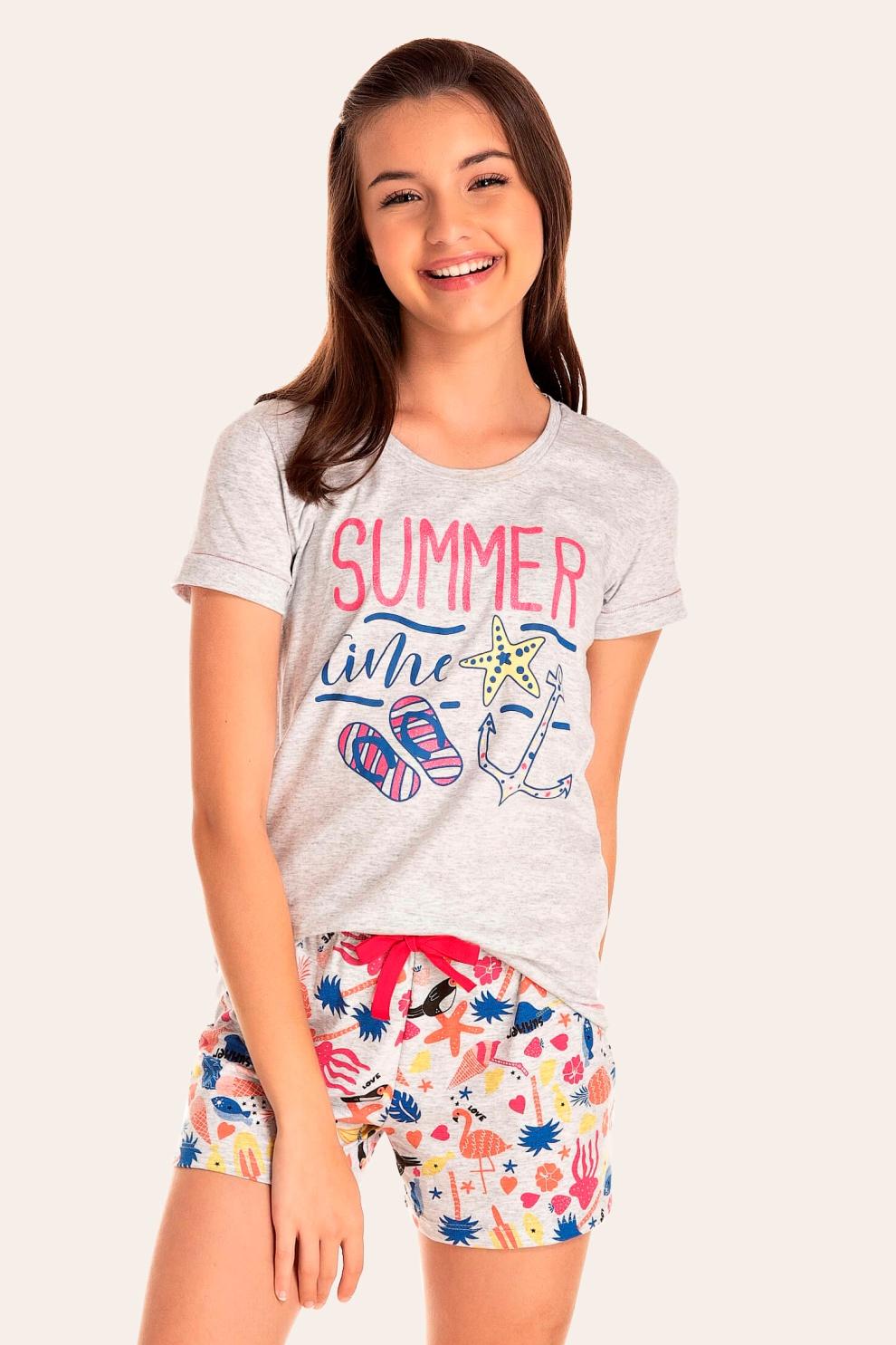 138/E - Short Doll Juvenil Feminino Summer