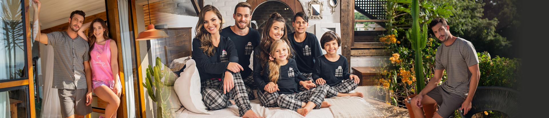 Família completa Xadrez - Bicho Preguiça
