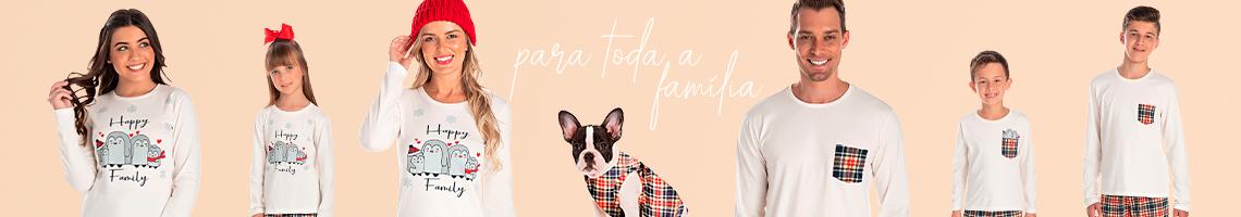 pijamas para toda a família