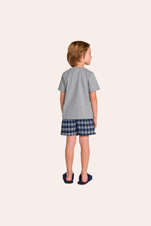 122/G - Pijama Infantil Masculino Xadrez Família Completa