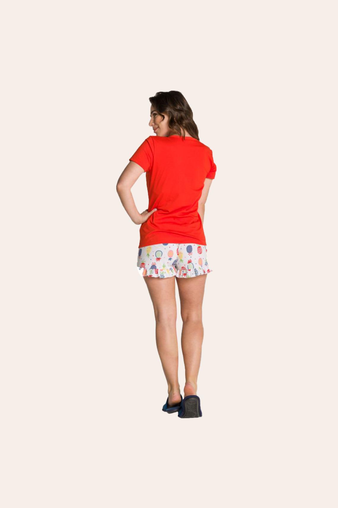 204/B - Pijama Adulto Feminino So Fresh com Babado