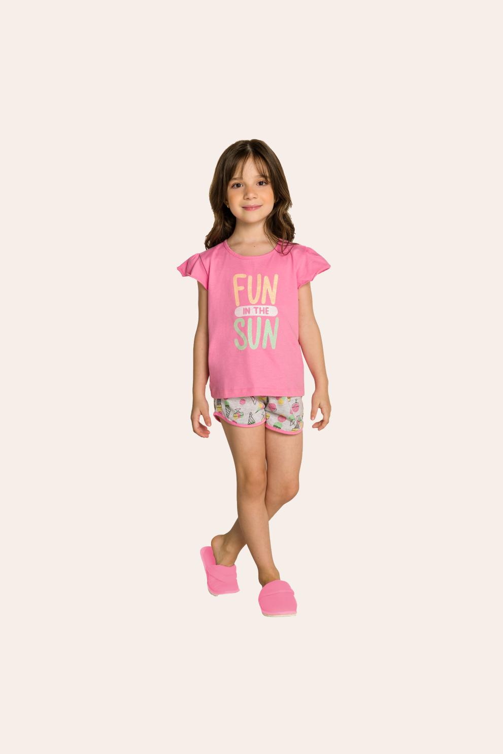205/D - Short Doll Adulto Feminino Estampa Rotativa de Sorvete