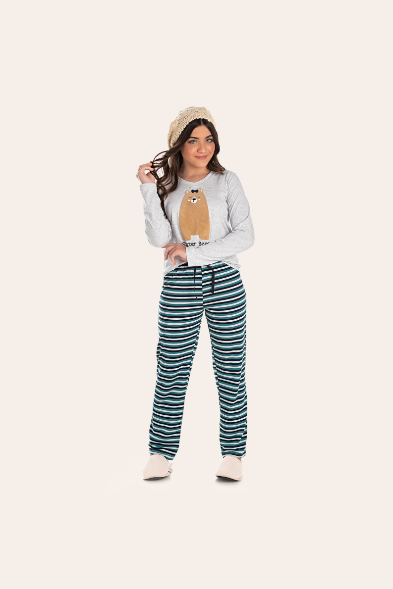 207/A - Pijama Juvenil Feminino Sister Bear