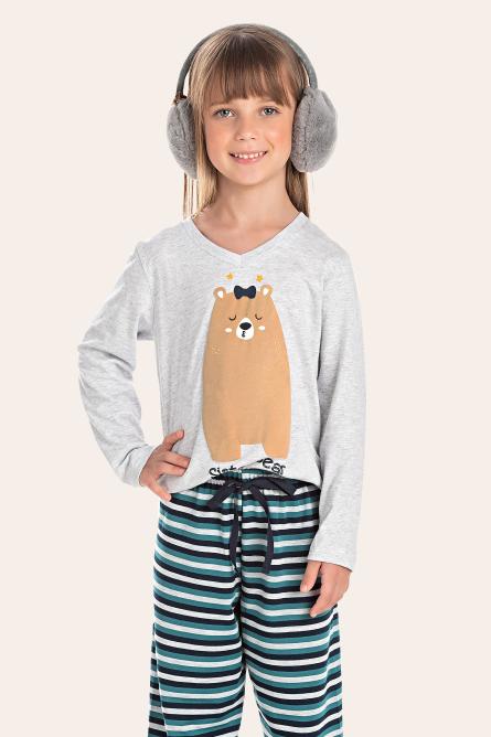 207/B - Pijama Infantil Feminino Sister Bear