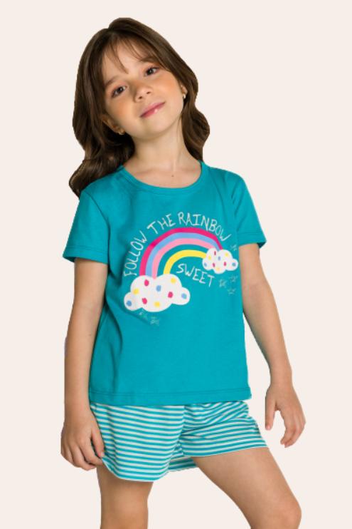 211/D - Pijama Infantil Feminino Nuvens