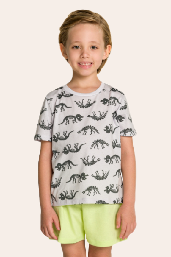 211/J - Pijama Infantil Masculino Dino