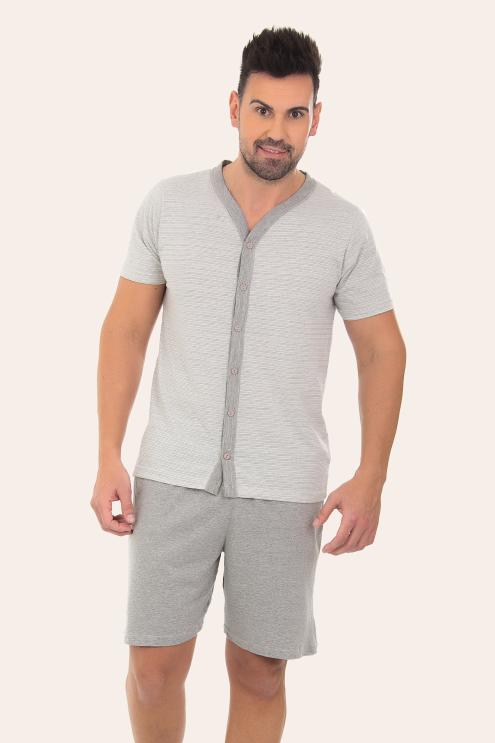 134/H - Pijama Adulto Masculino  Aberto