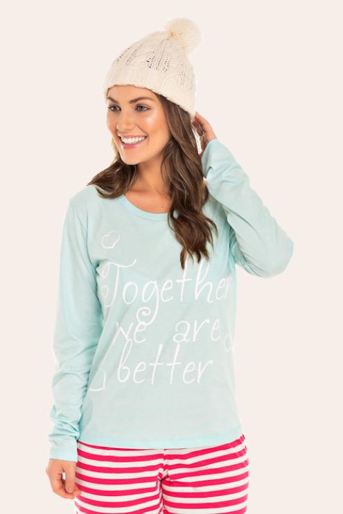219/A - Pijama Adulto Feminino Together We Are Better
