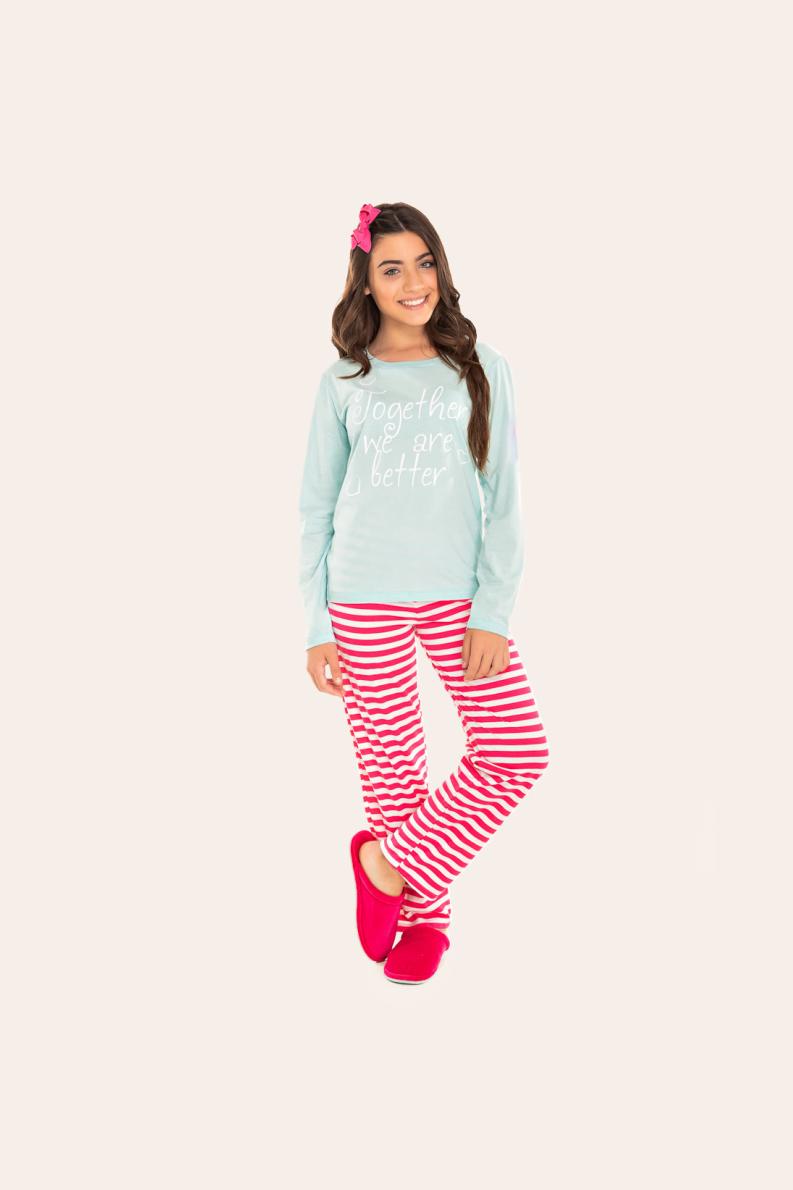 219/B - Pijama Juvenil Feminino Togheher  We  Are Better