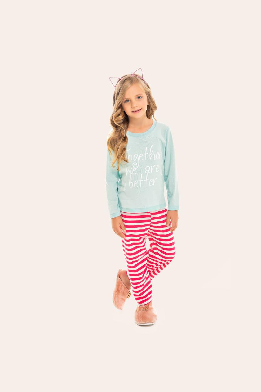 142/H - Pijama Infantil Feminino Together We Are Better