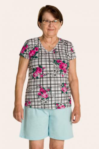 220/B - Pijama Adulto Feminino Floral