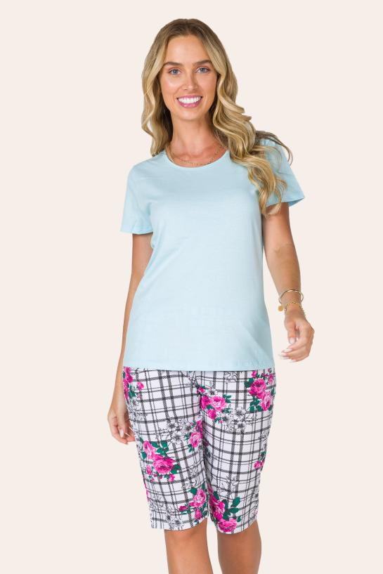 220/C - Pijama Capri Floral