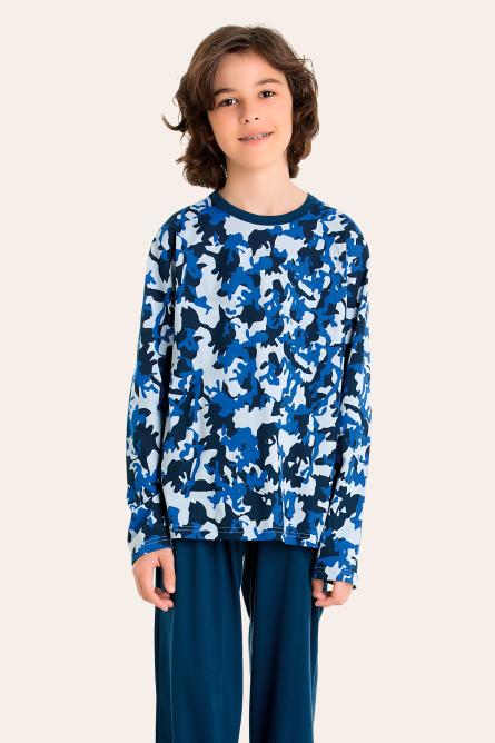 224/B - Pijama Masculino Juvenil Moletinho