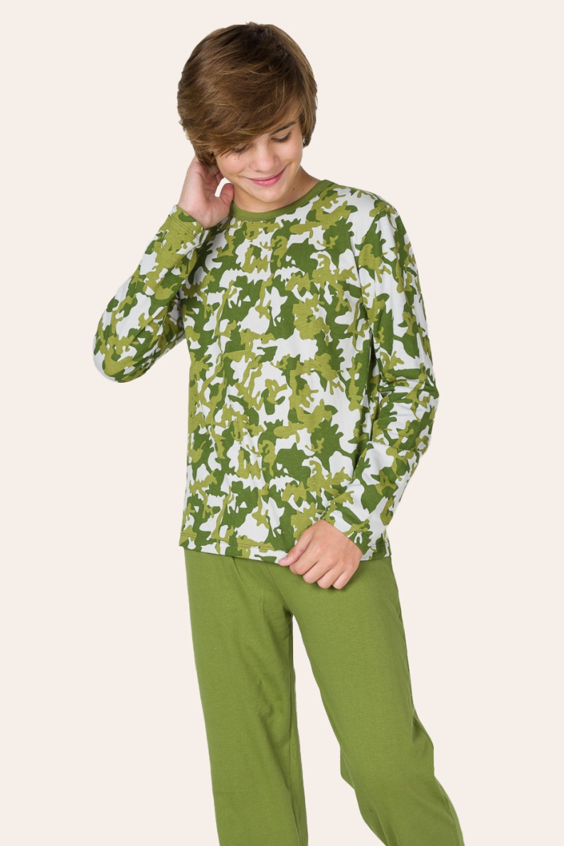 224/C - Pijama Masculino Juvenil Moletinho