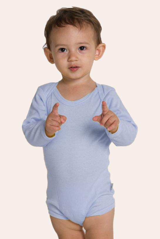250/B - Body Bebê Ribana Canelada Ombro Transpassado