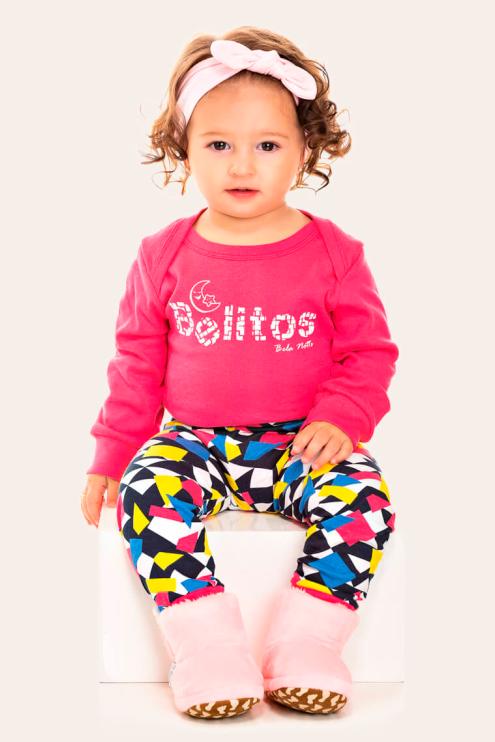 252/A- Pijama Bebê Feminino Belitos Colorido