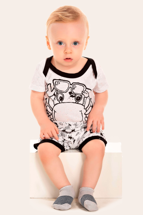 253/B - Pijama Bebê Masculino Siri