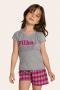 122/C - Pijama Infantil Feminino Xadrez Família Completa