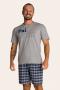 002/E - Pijama Adulto Masculino Xadrez Família Completa