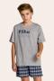 002/G - Pijama Juvenil Masculino Xadrez Família Completa