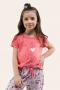 034/C - Pijama Infantil Feminino Cat And Dog