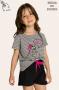 101/C - Pijama Infantil Feminino Família Skeleton - Brilha no Escuro