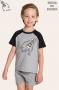 004/F - Pijama Infantil Masculino Família Skeleton - Brilha no Escuro