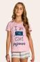 201/B - Short Doll Juvenil Feminino Familia Cats - Meow