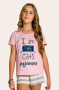 126/B - Short Doll Juvenil Feminino Familia Cats - Meow