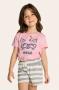 201/C - Short Doll Infantil Feminino Familia Cats - Meow