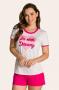 203/A - Pijama Adulto Feminino em Botonê Estampa Glitter - Mãe e Filha