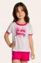 130/C - Pijama Infantil Feminino em Botonê Estampa Glitter - Mãe e Filha