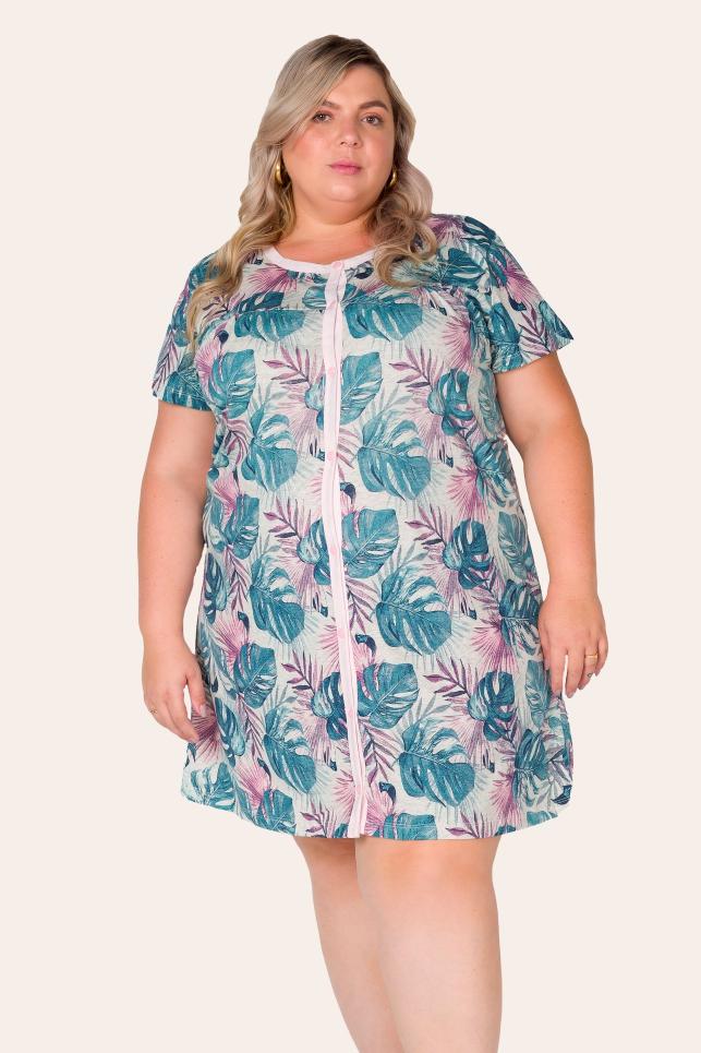 031/H - Camisola Plus Size Com Botões