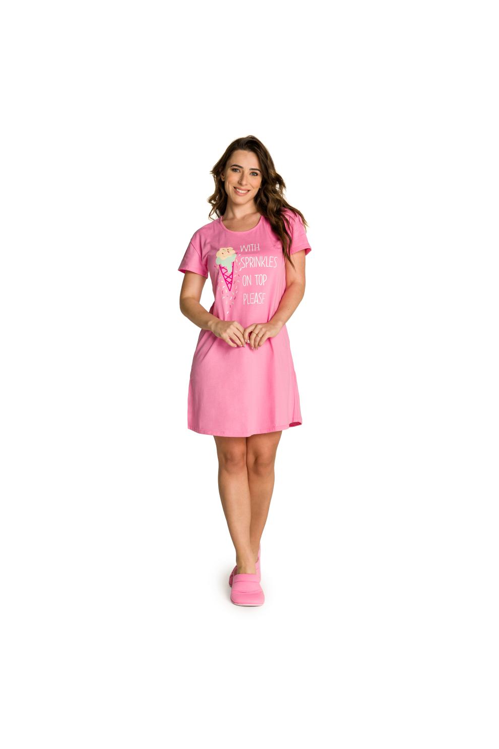 009/E - Camisola Adulto Feminino Sorvete com Granulado