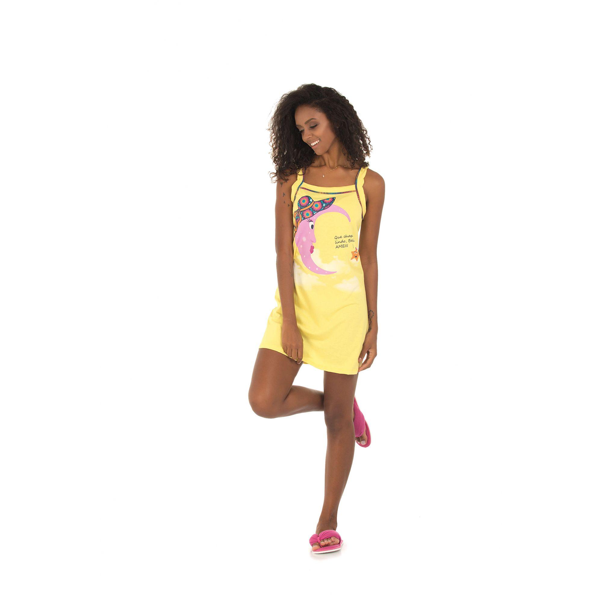 Camisola Alça Belita Amarela