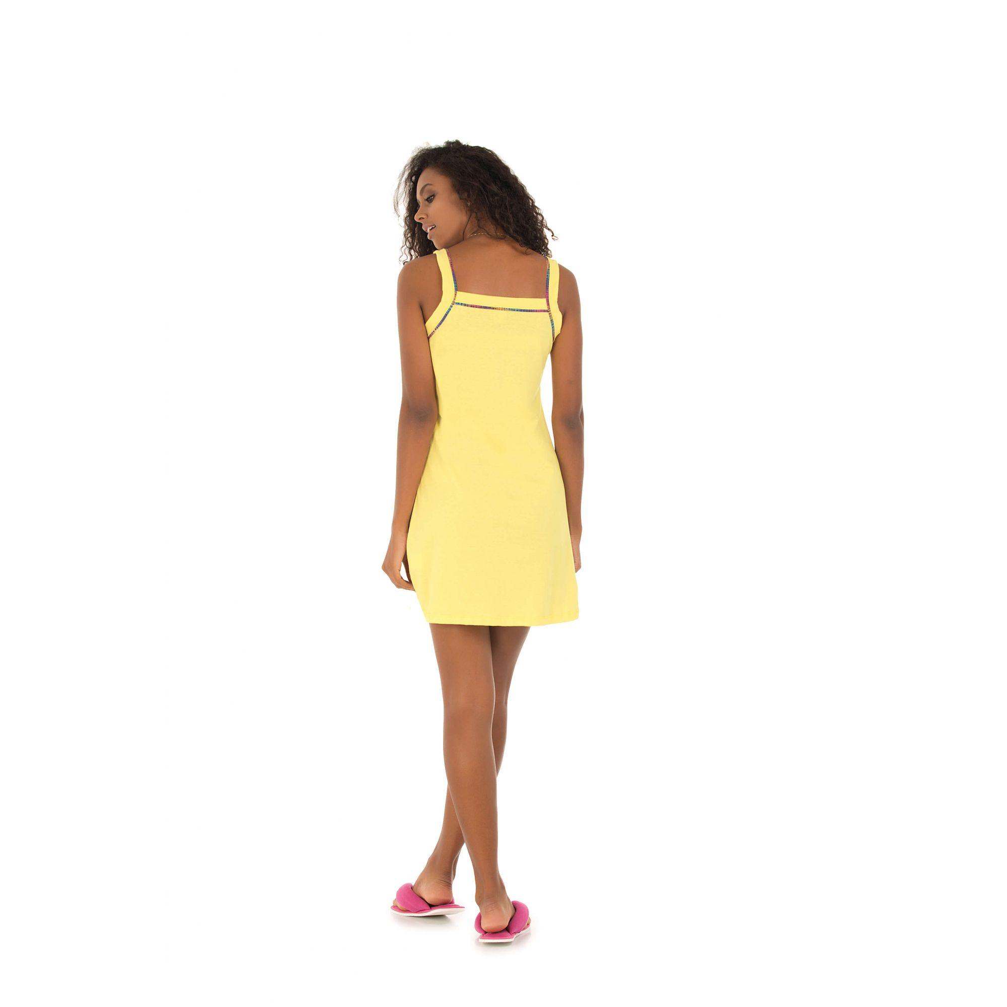110/E - Camisola Alça Belita Amarela