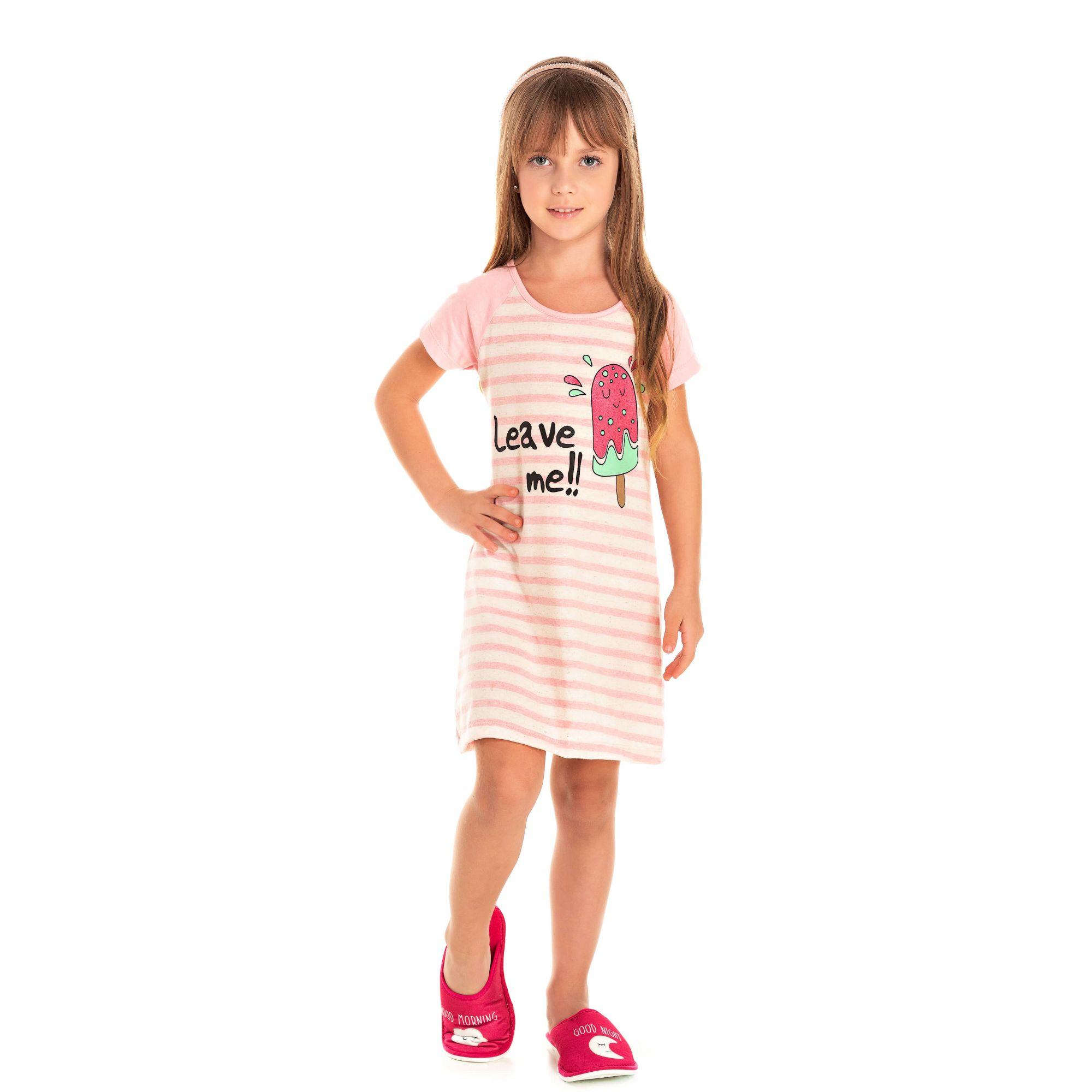 Camisola Infantil Feminino Picolé - Rosa