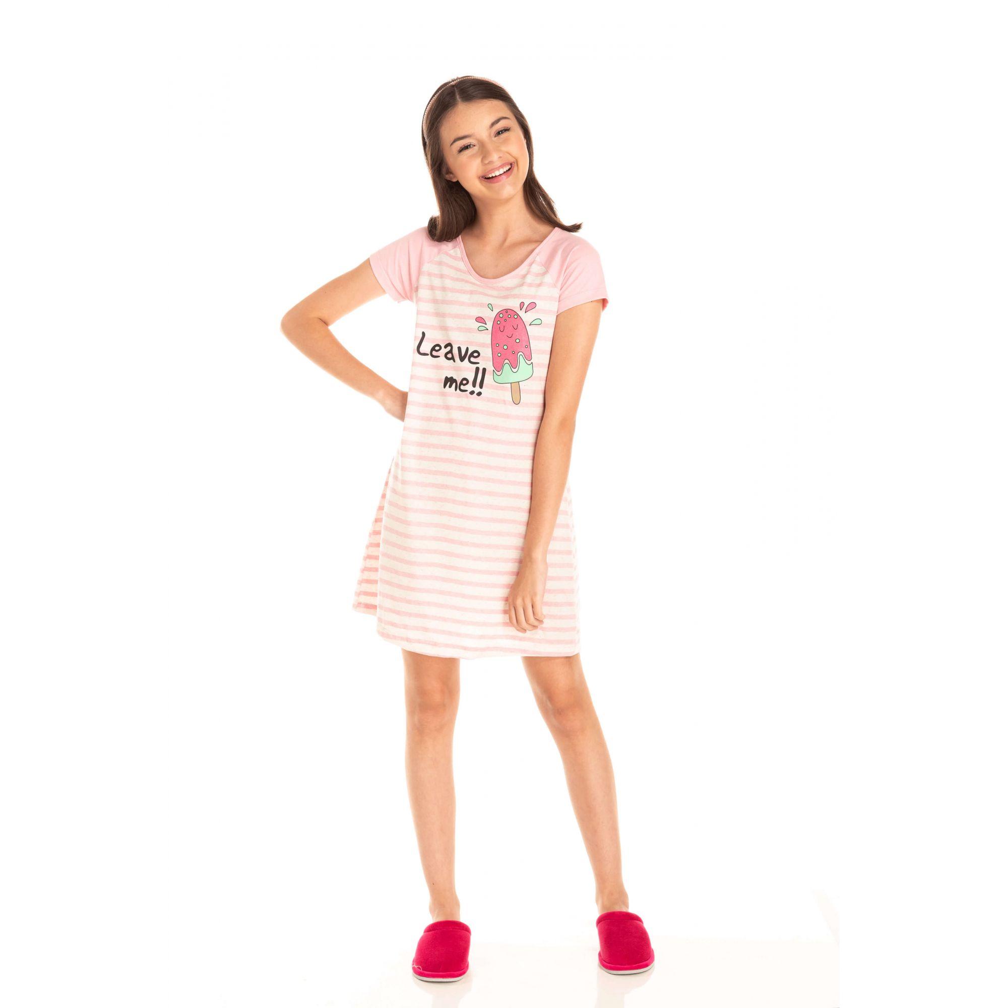105/B - Camisola Juvenil Feminino Picolé - Rosa