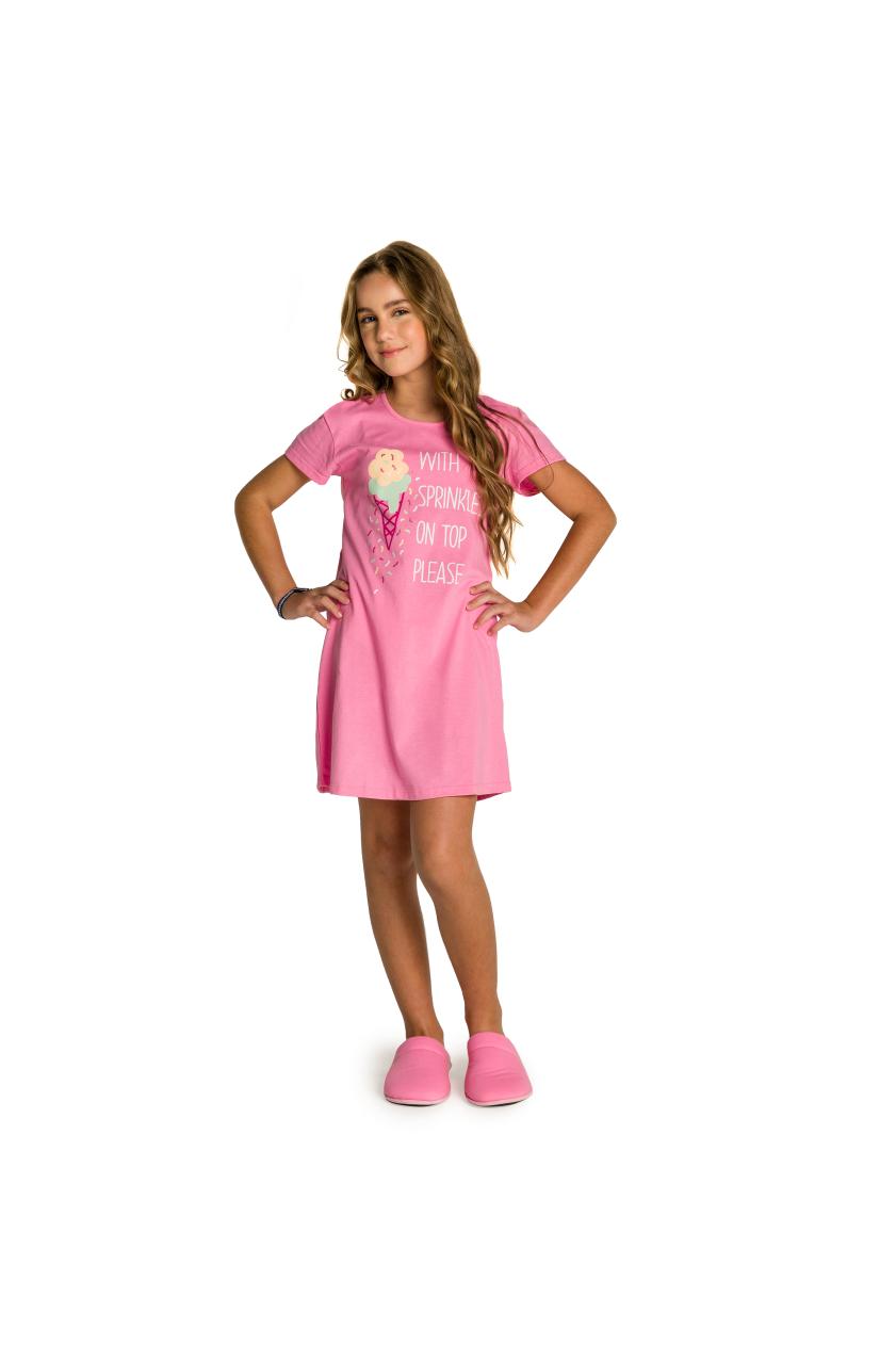 009/F - Camisola Juvenil Feminino Sorvete com Granulado
