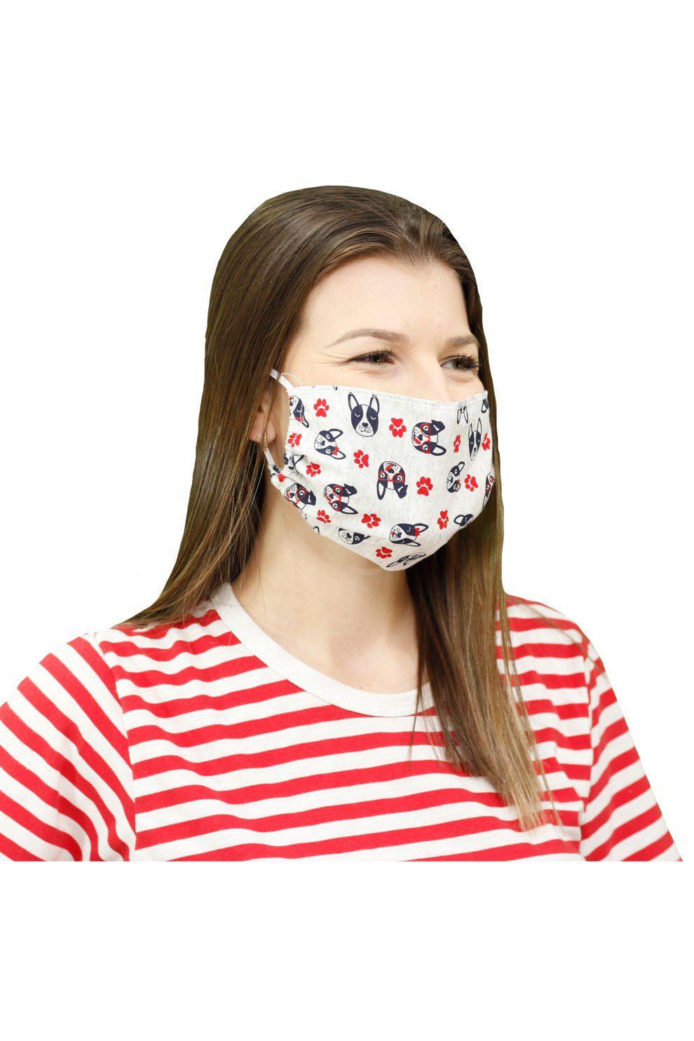 500/A - Máscara de Proteção Estampa Rotativa Buldog
