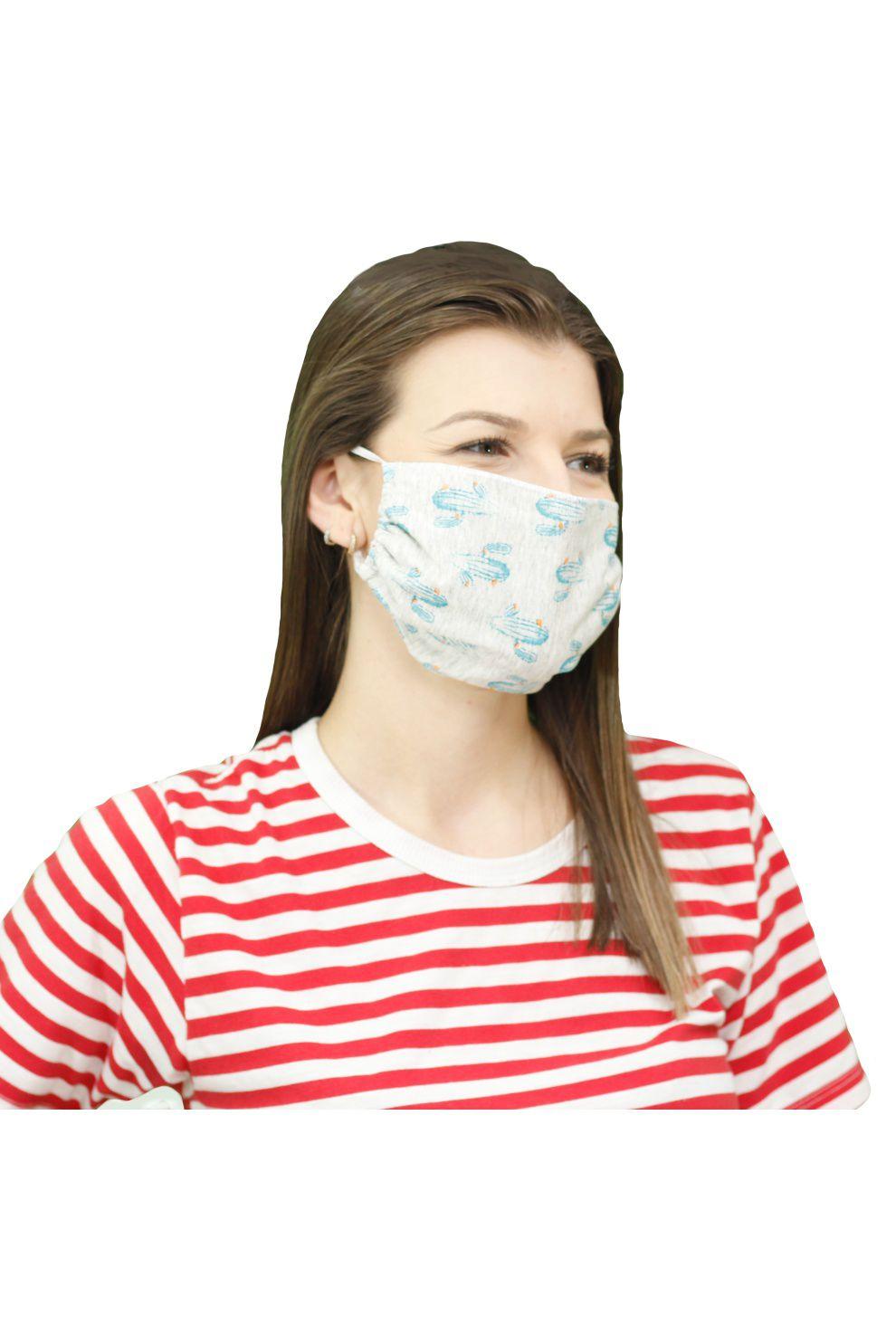 500/B - Máscara de Proteção Estampa Rotativa Cactos