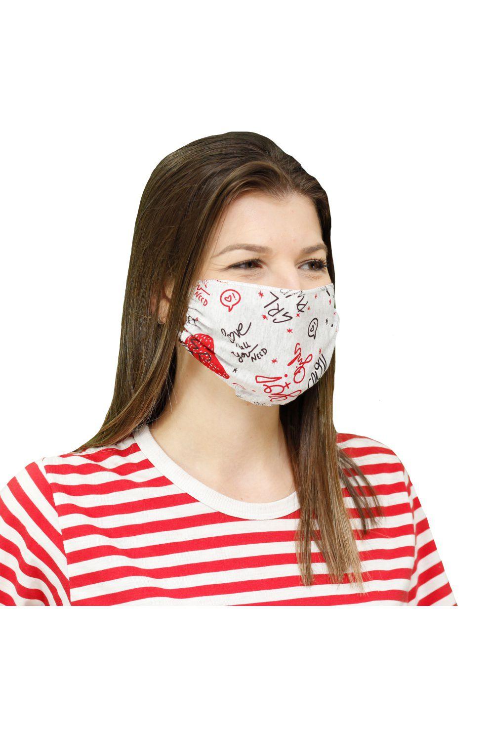 500/C - Máscara de Proteção Estampa Rotativa Power Girl