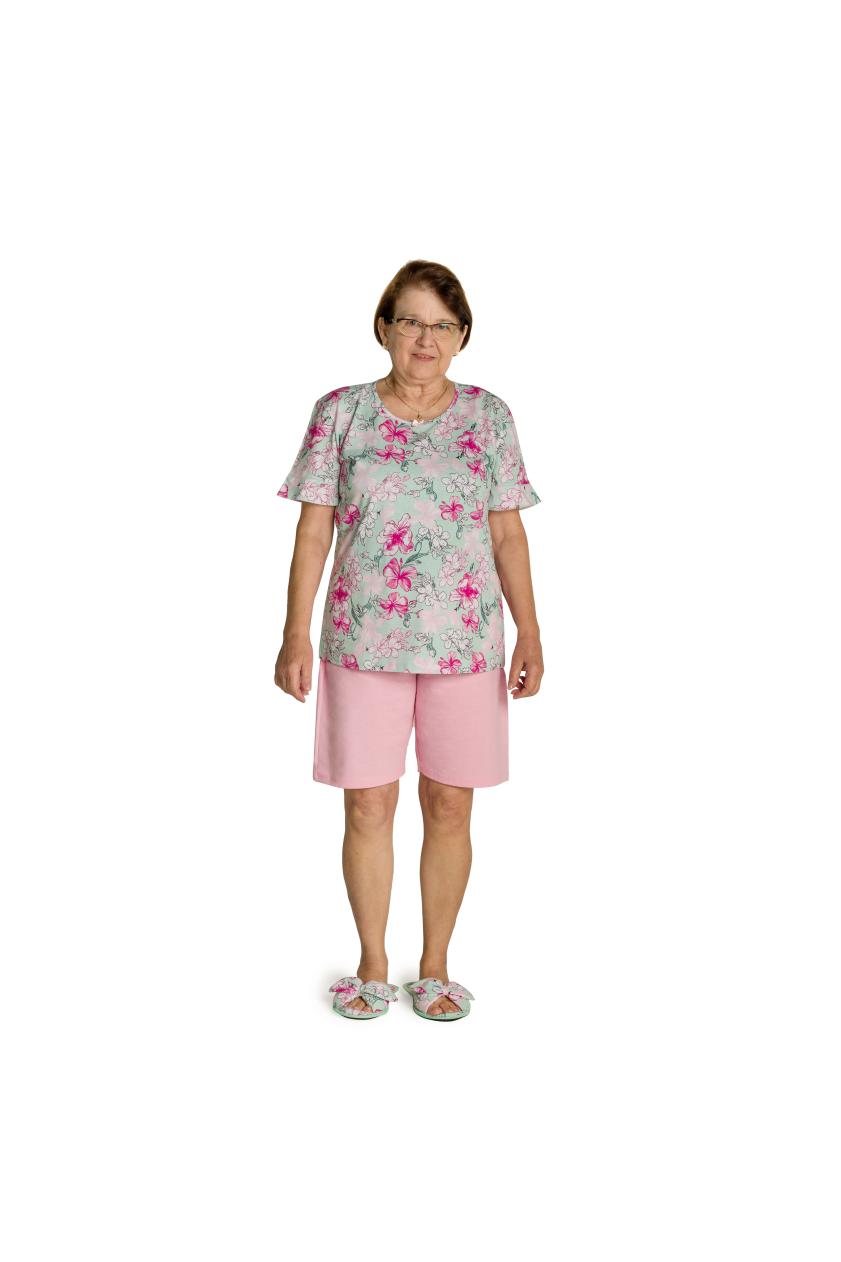 007/G - Short Doll Adulto Feminino Floral com Laço