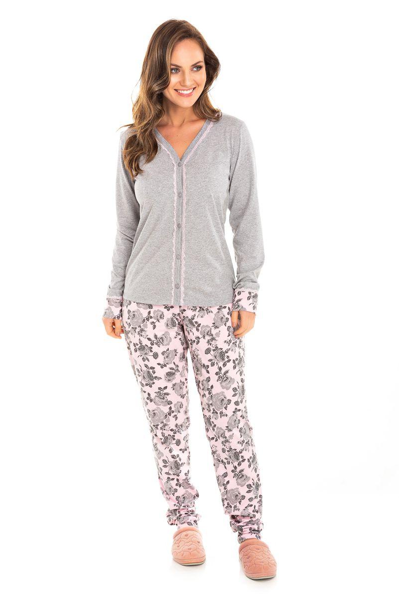Pijama Adulto Feminino Aberto
