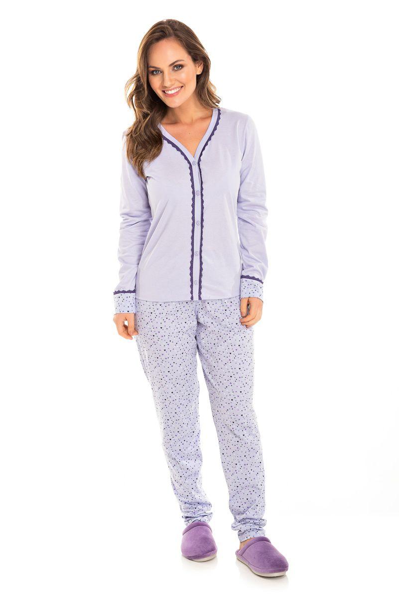 Pijama Adulto Feminino Aberto Lilás